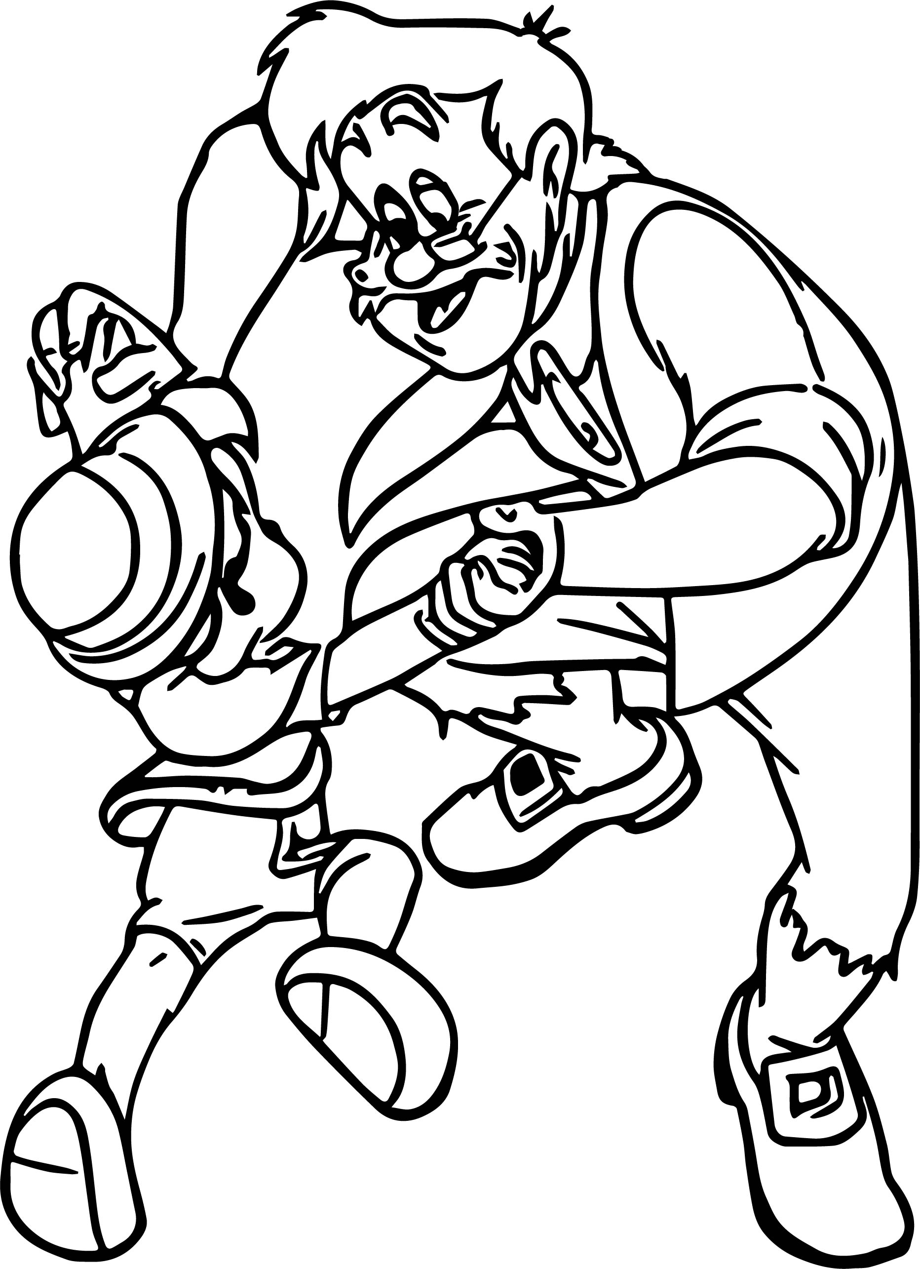 Gepetto Son Dancing Coloring Page