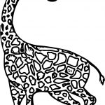 Giraffe Obedient Coloring Page
