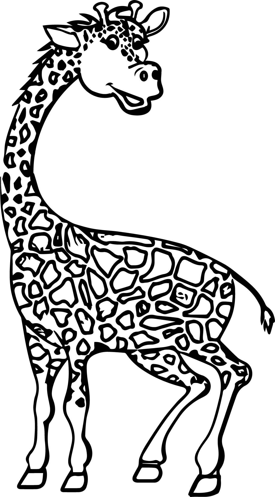 Giraffe Obedient Coloring Page | Wecoloringpage.com