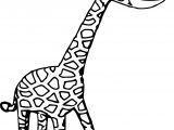 Giraffe Perspective Coloring Page