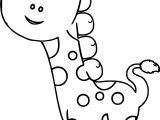 Giraffe Preschool Coloring Page