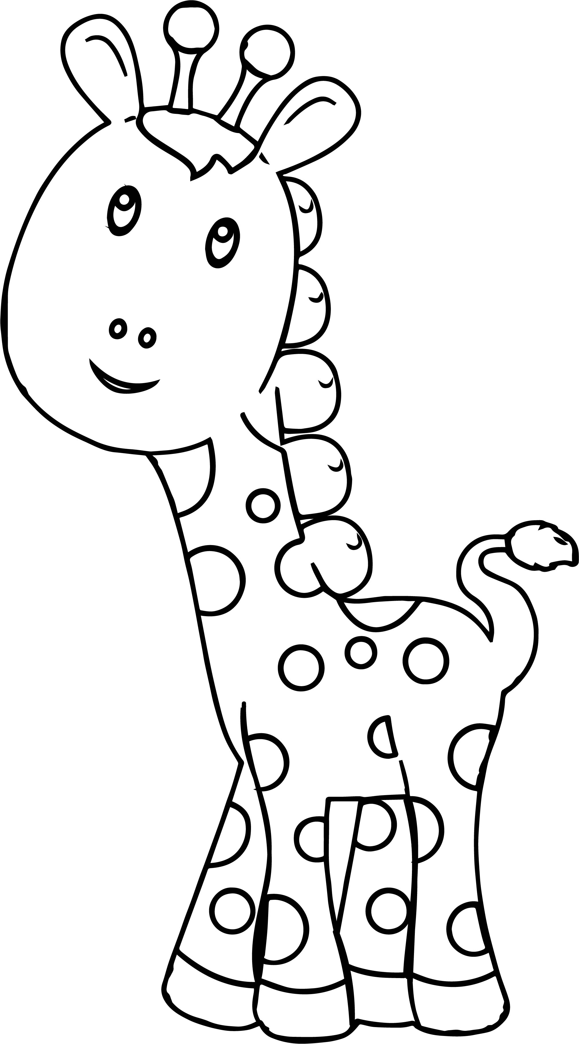 Giraffe preschool coloring page for Preschool coloring pages