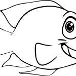 Good Cartoon Fish Coloring Page Sheet