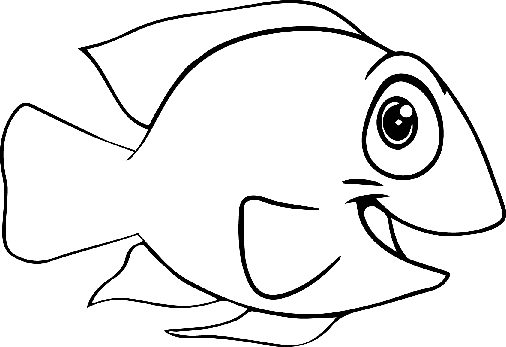 coloring pages cartoon fish - photo#6