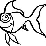 Handsome Cartoon Fish Coloring Page Sheet