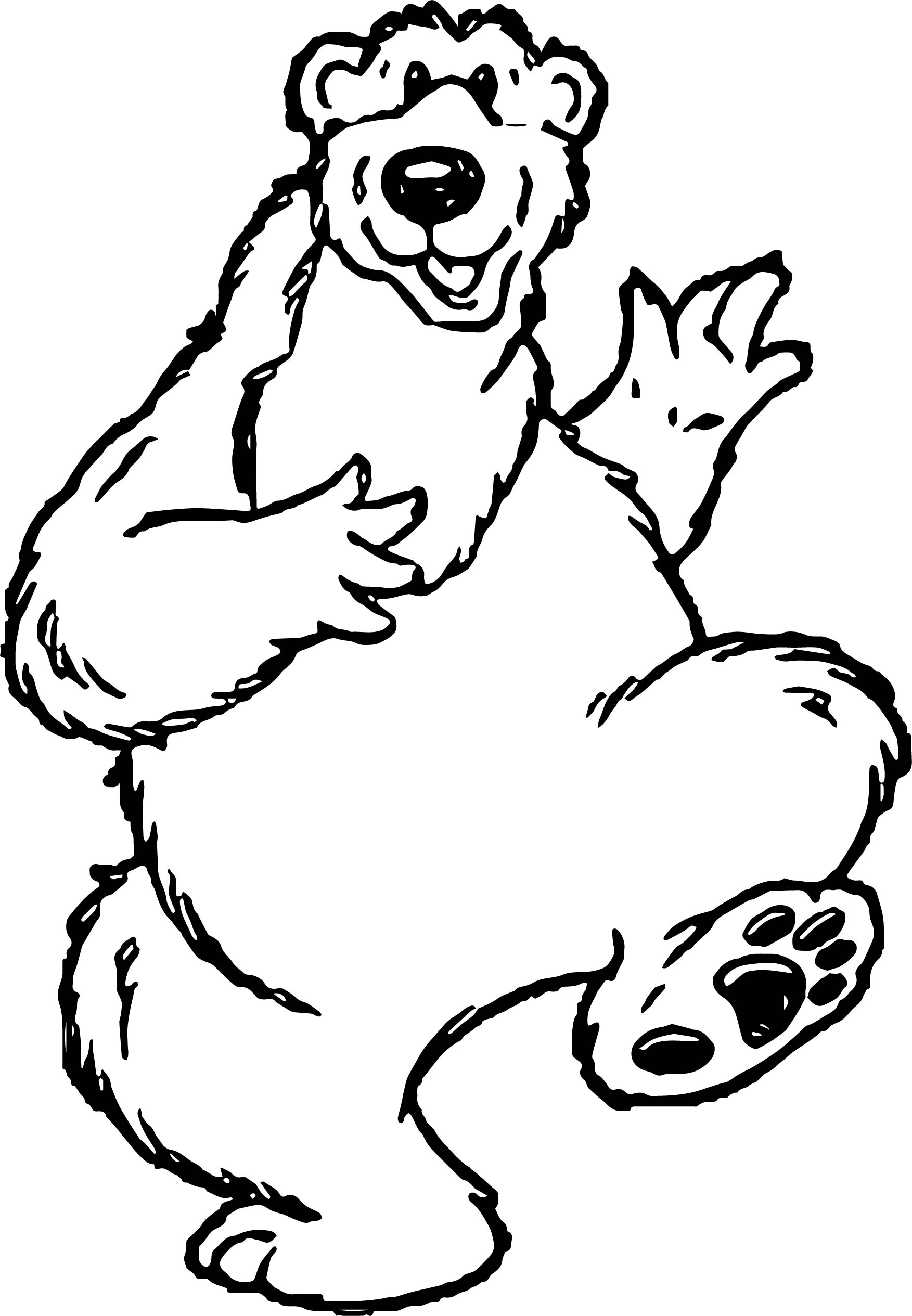 Happy Bear Coloring Page
