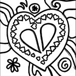 Heart Stained Coloring Page