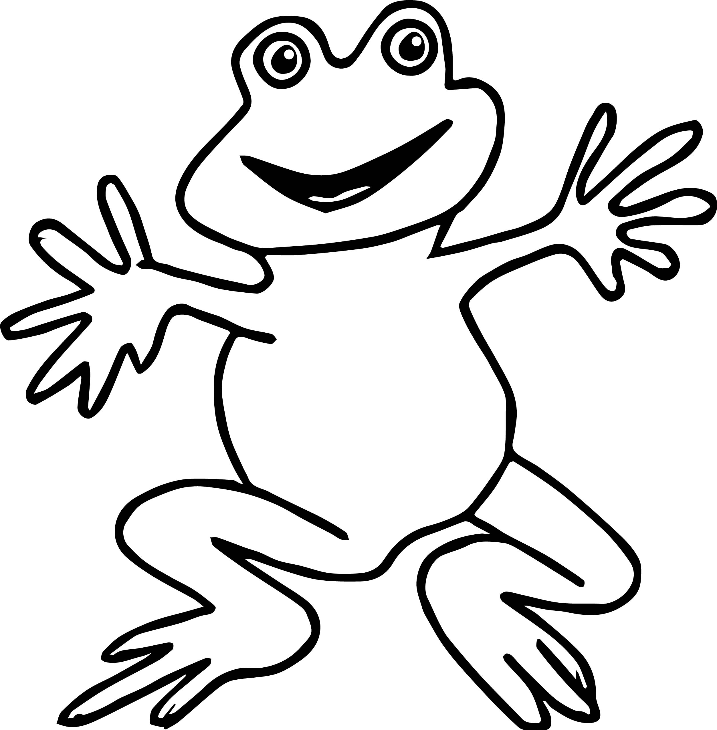 hello frog coloring page - Frogs Coloring Pages