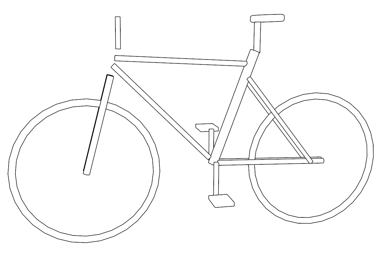 Just Biycle Coloring Page Sheet
