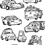 Just Chibi Cars Characters Coloring Page