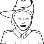 Kid Camp Soldier Coloring Page