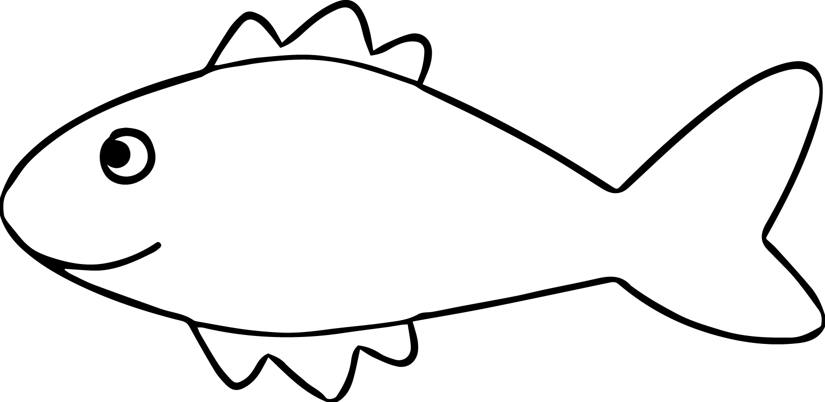 Simple fish coloring page for Simple fish coloring page