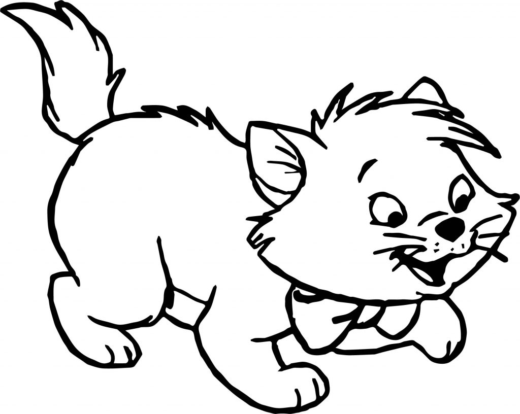 Little Disney The Aristocats Coloring Page | Wecoloringpage