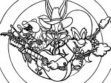 Looney Tunes Music Coloring Page
