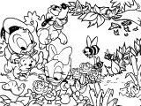 Looney Tunes Scene Coloring Page