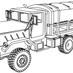 M923 Military Truck Coloring Page