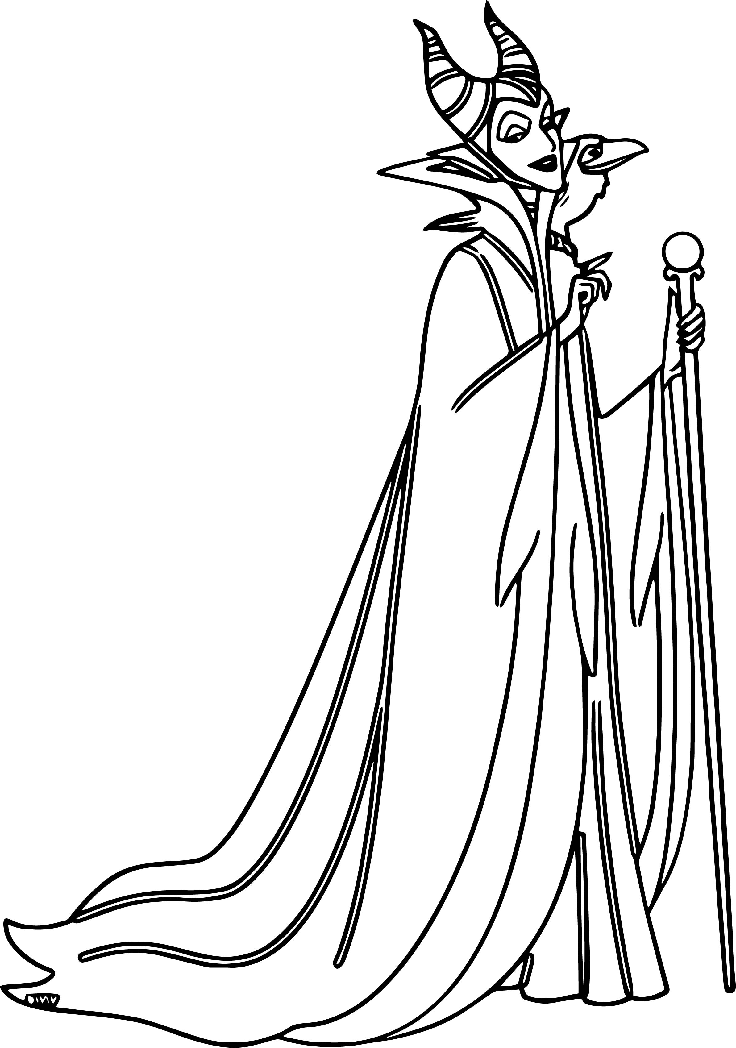 Maleficent Diablo Waiting Coloring Page