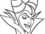 Maleficent Evil Cartoon Coloring Page
