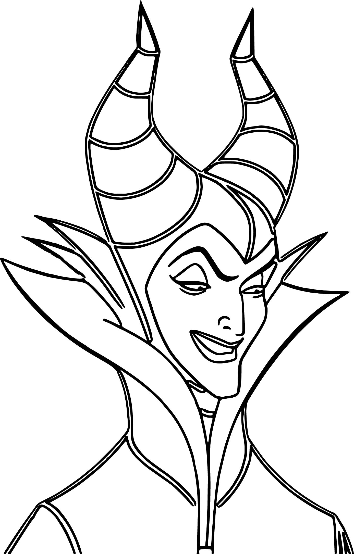 Evil Princess Coloring Pages : Maleficent evil cartoon coloring page wecoloringpage