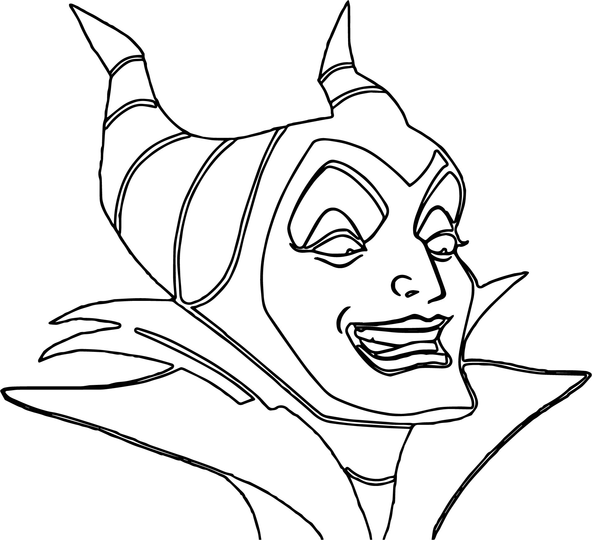 Maleficent face coloring pages for Maleficent coloring pages