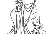 Maleficent Merry Weather Coloring Page