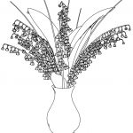 May Lily In Vase Coloring Page