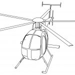 Md 500 Helicopter Coloring Page