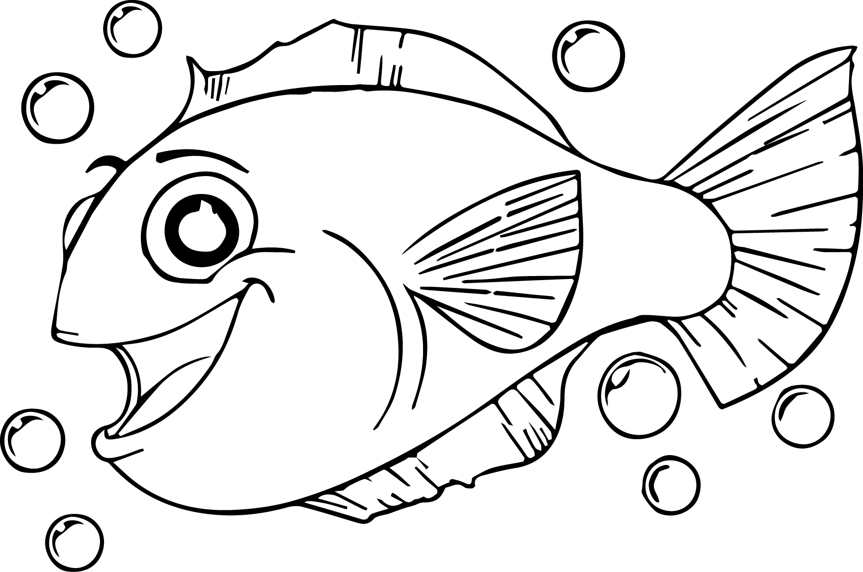 Much cartoon fish coloring page sheet for Fish cartoon coloring pages