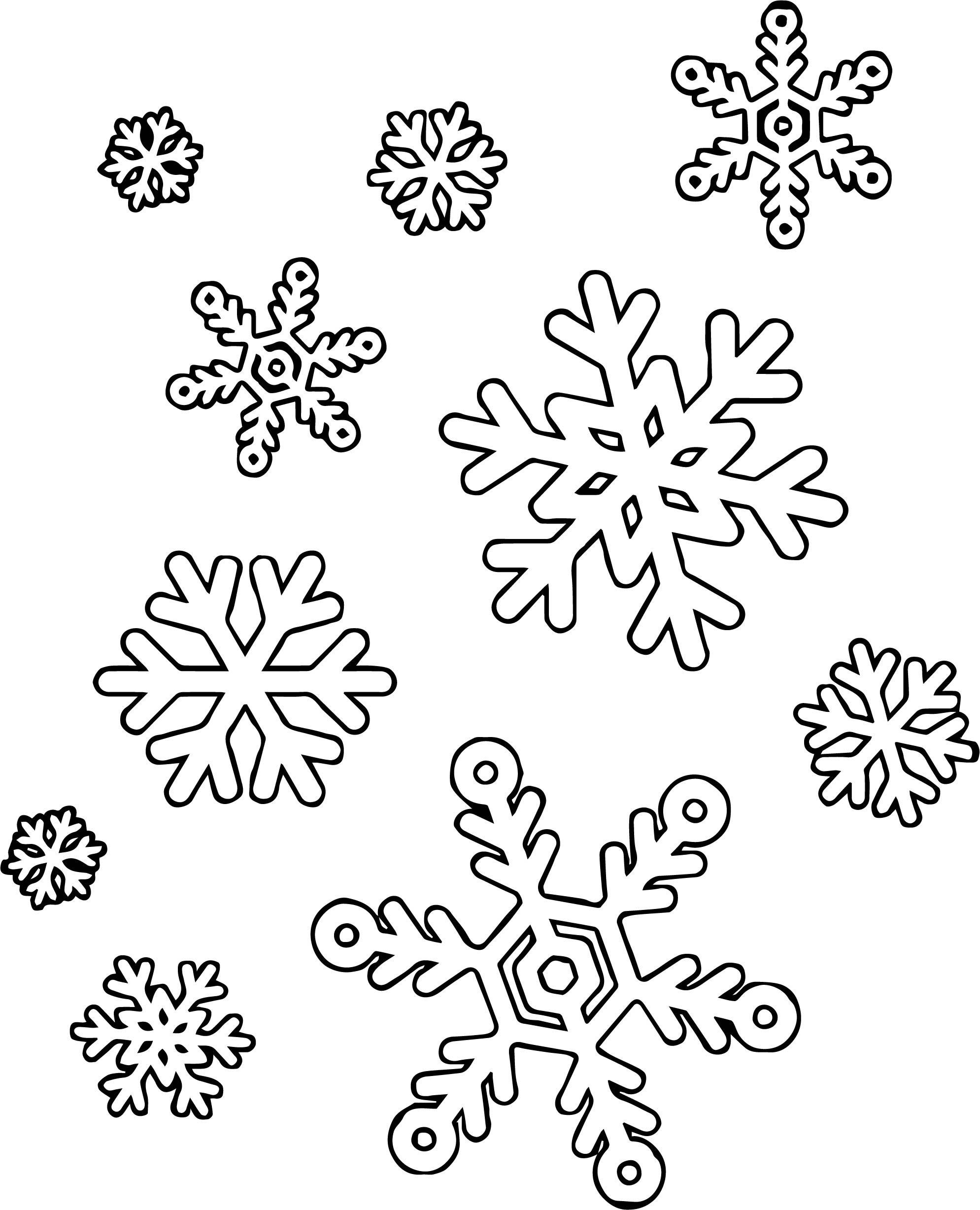 Much Snowflake Coloring Page   Wecoloringpage.com
