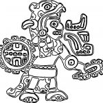 New Aztec Figure Coloring Page