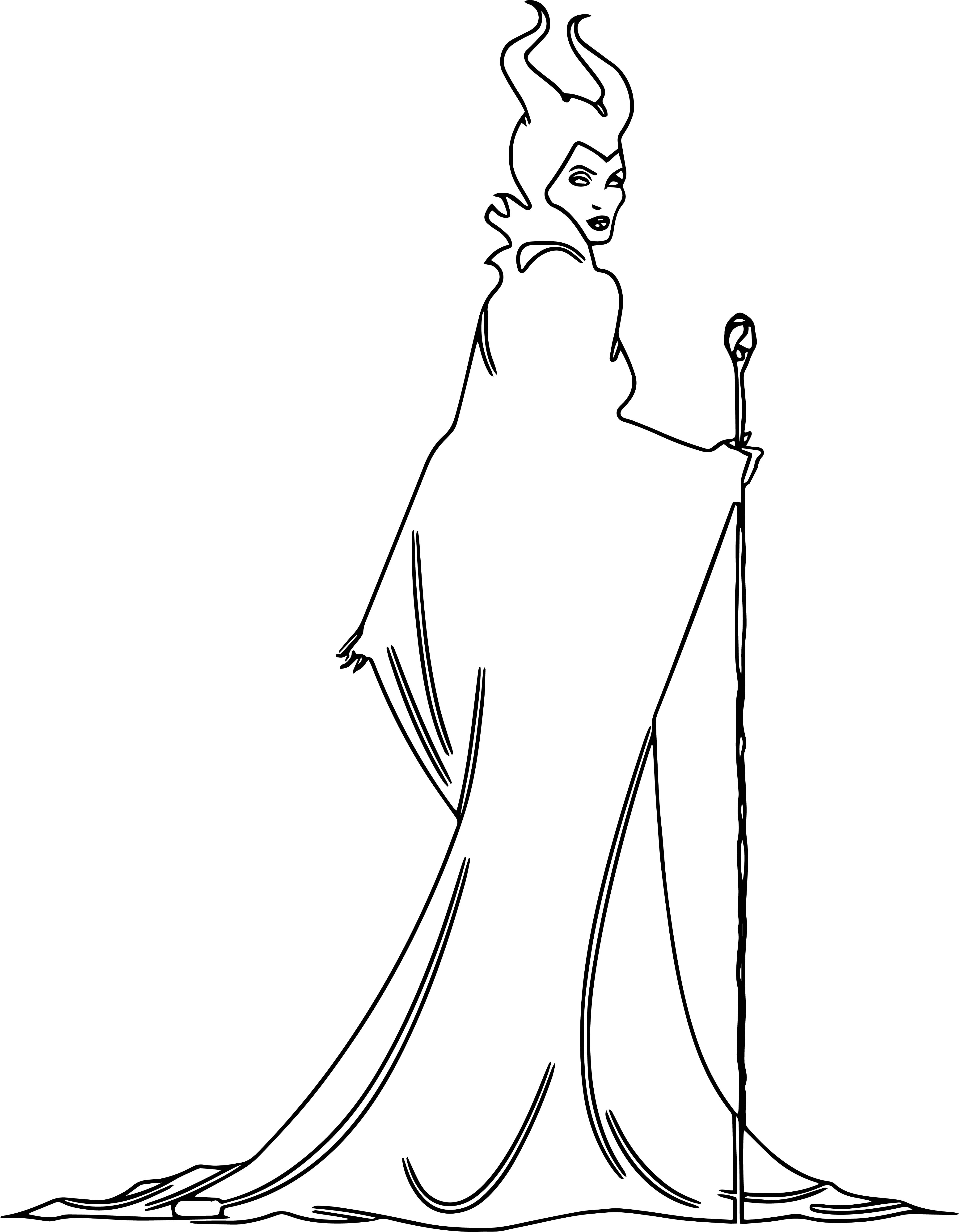 New Disney Maleficent Coloring Pages