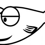 One Cartoon Fish Coloring Page Sheet