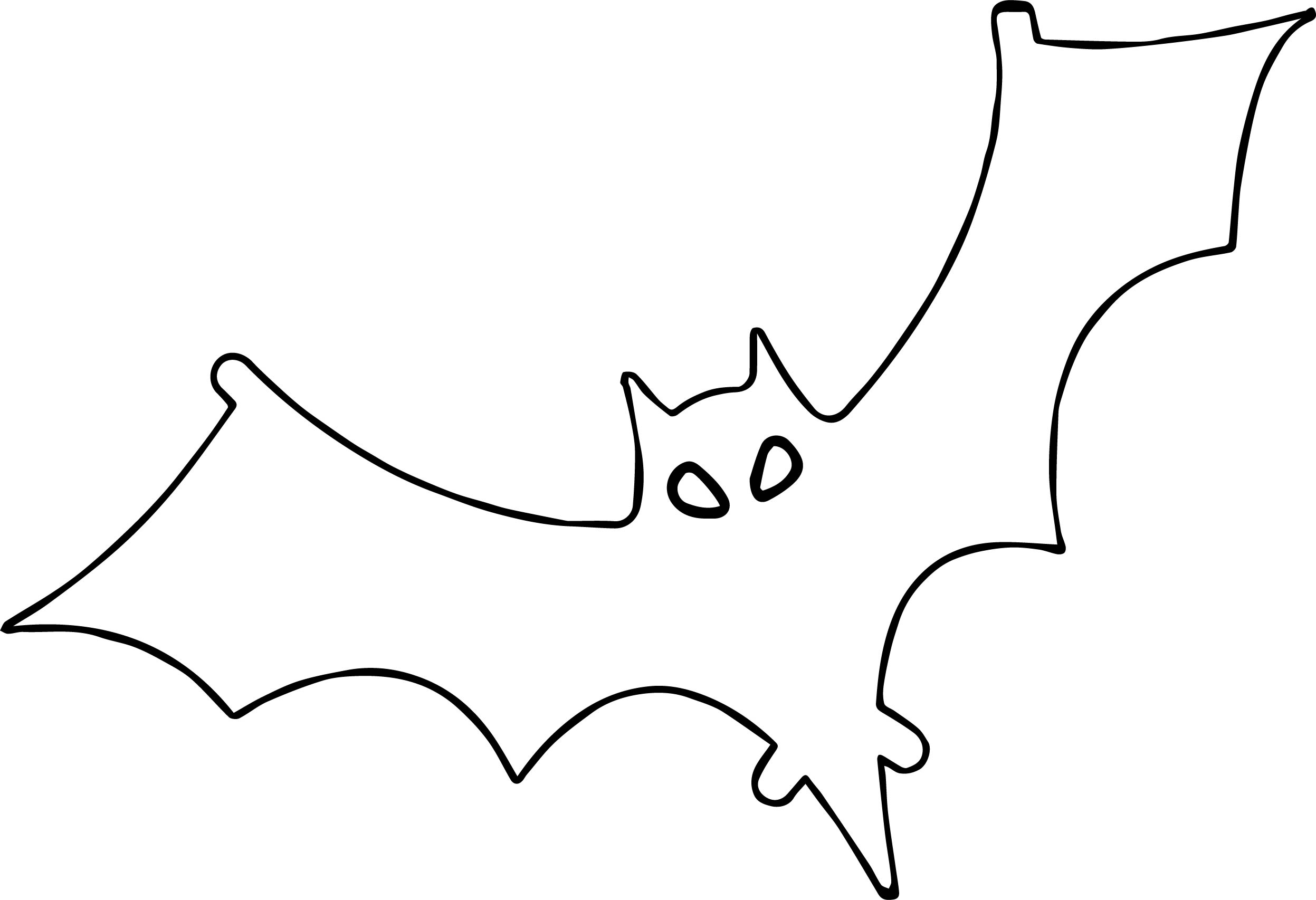 Outline bat coloring page for Bats coloring pages