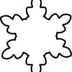 Outline Snowflake Coloring Page