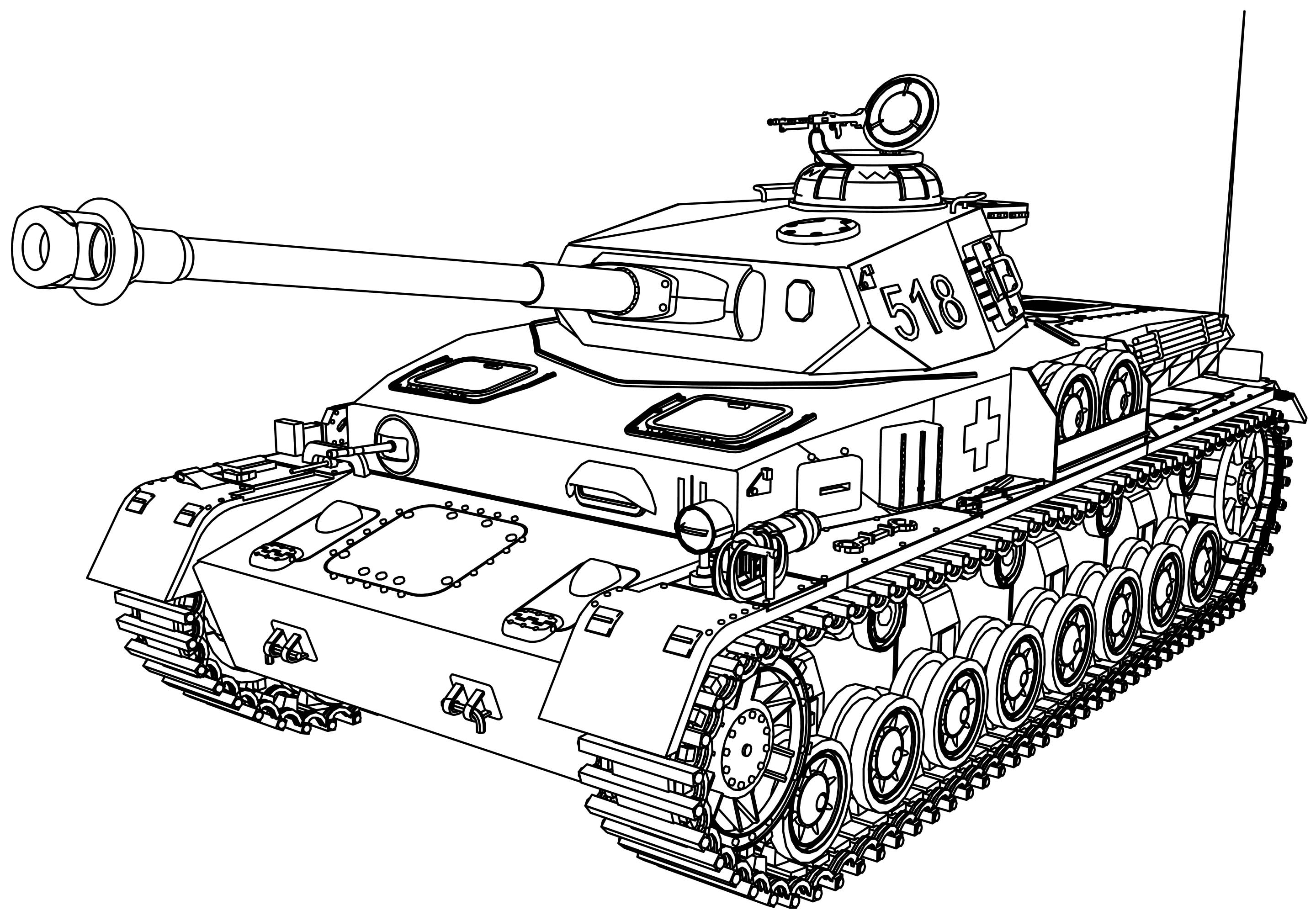Panzer tank coloring page for Tank coloring page