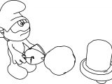 Papa Smurf Cartoon Coloring Page