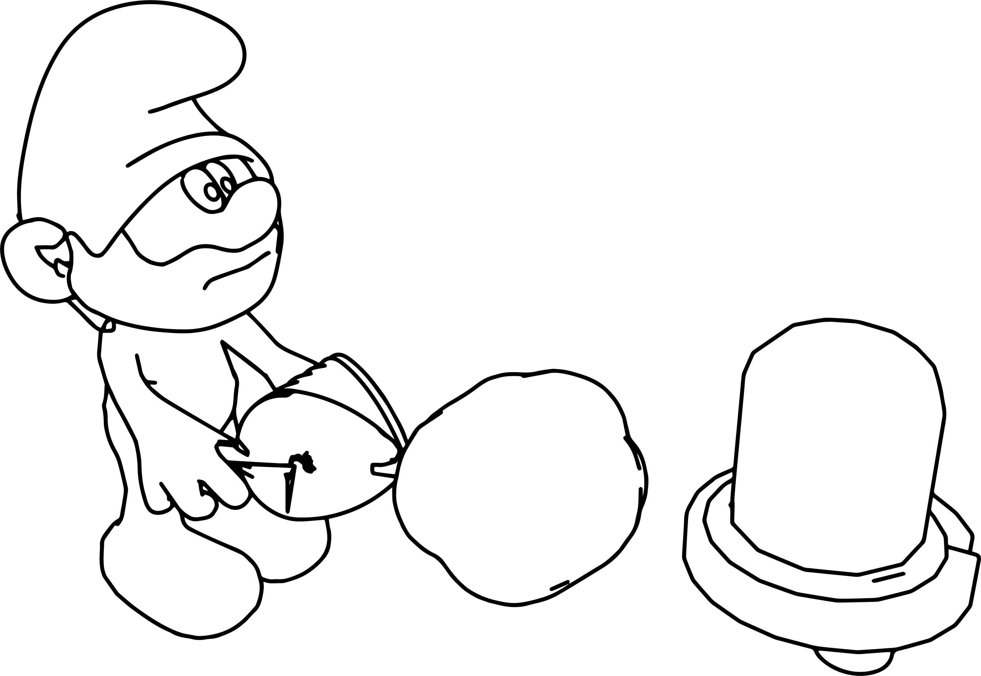 Papa Smurf Cartoon Coloring Page