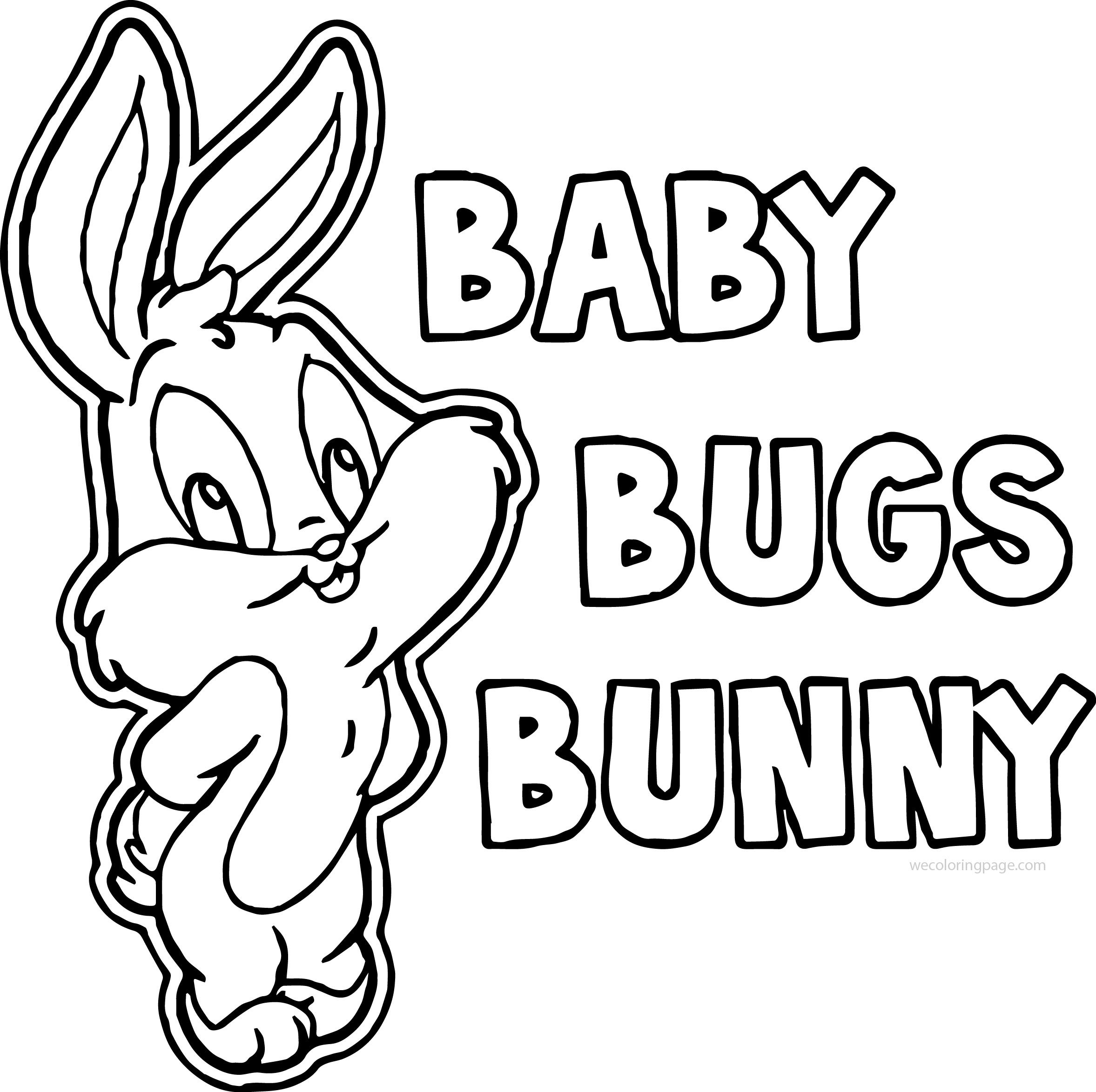 perfect baby bugs bunny coloring page wecoloringpagecom