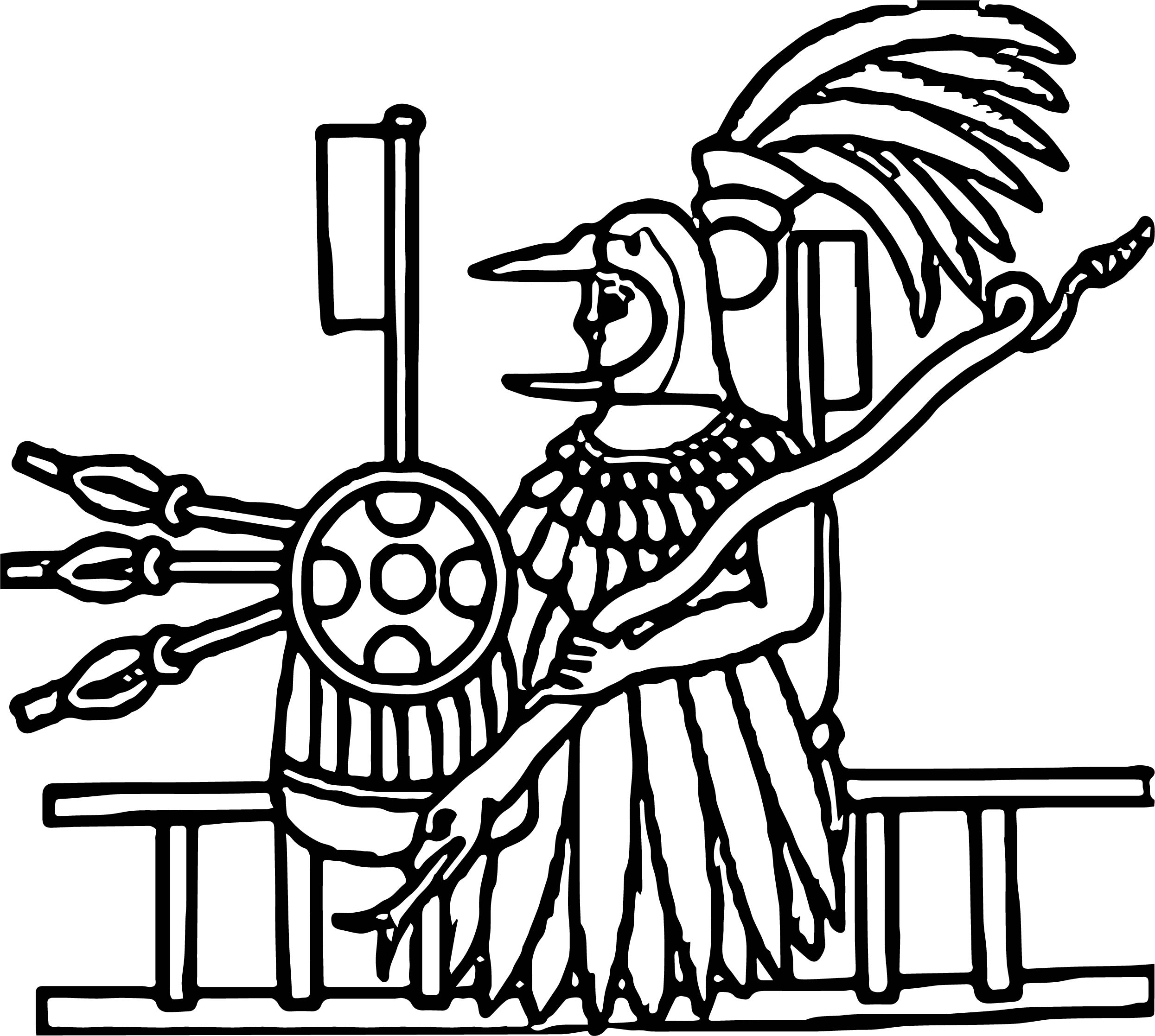 Picture Aztec Coloring Page