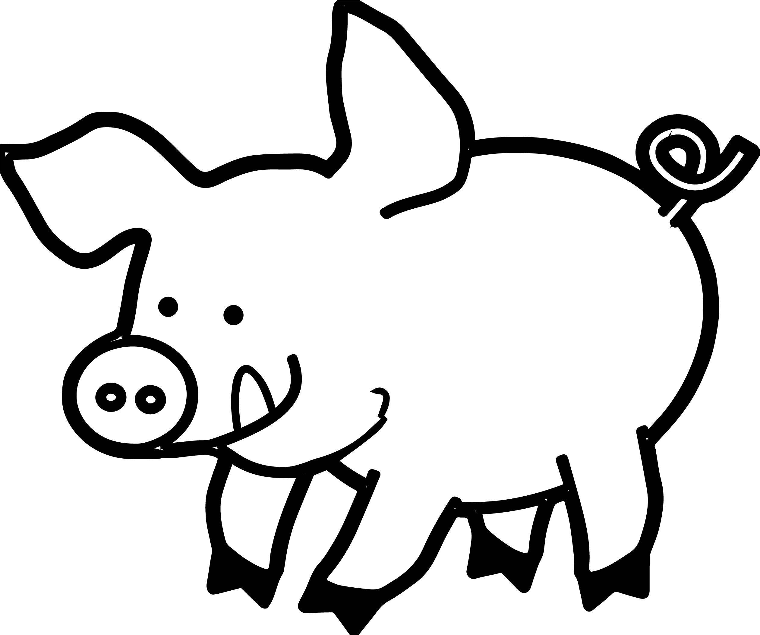 Pig Piglet Coloring Page | Wecoloringpage.com