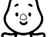 Piglet Cute Coloring Page