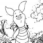Piglet In The Forest Coloring Page
