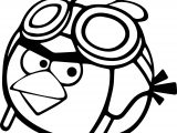 Pilot Angry Birds Coloring Page
