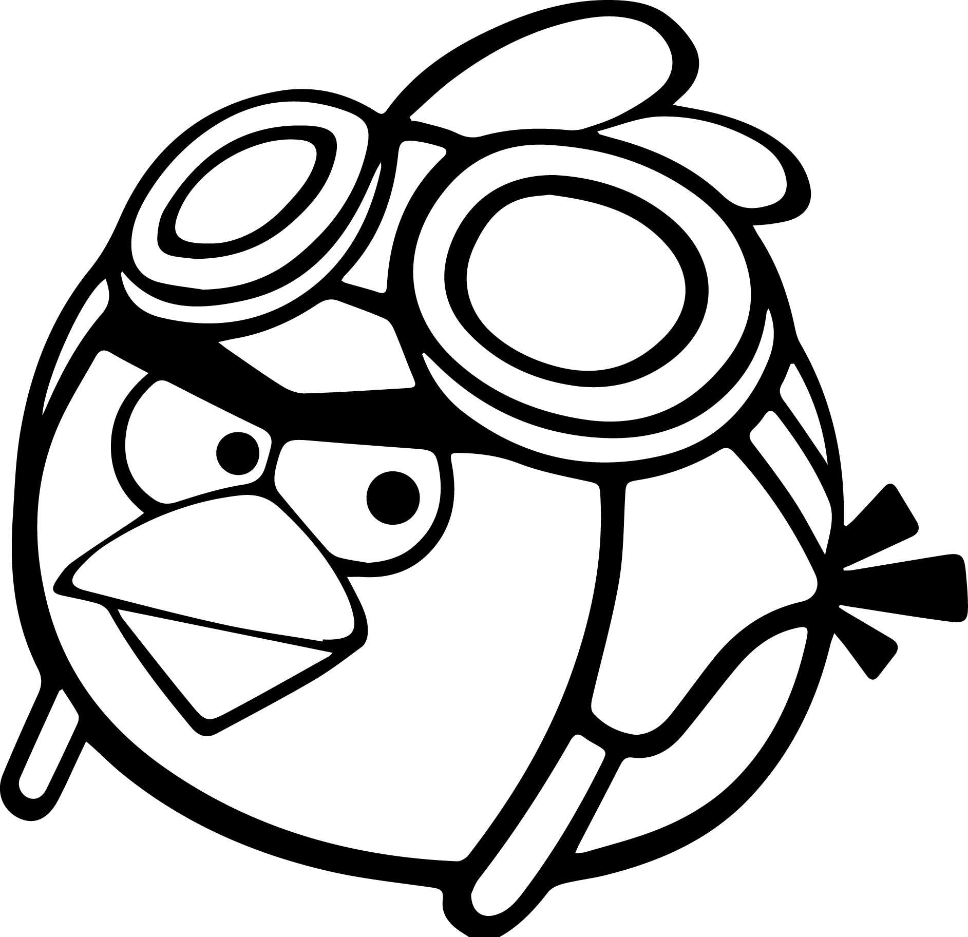 pilot angry birds coloring page - Angry Birds Coloring Page