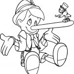 Pinocchio And Jiminy Nose Coloring Page