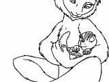 Plio Disney Lemur And Baby Dinosaur Coloring Page