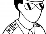 Police Soldier Coloring Page