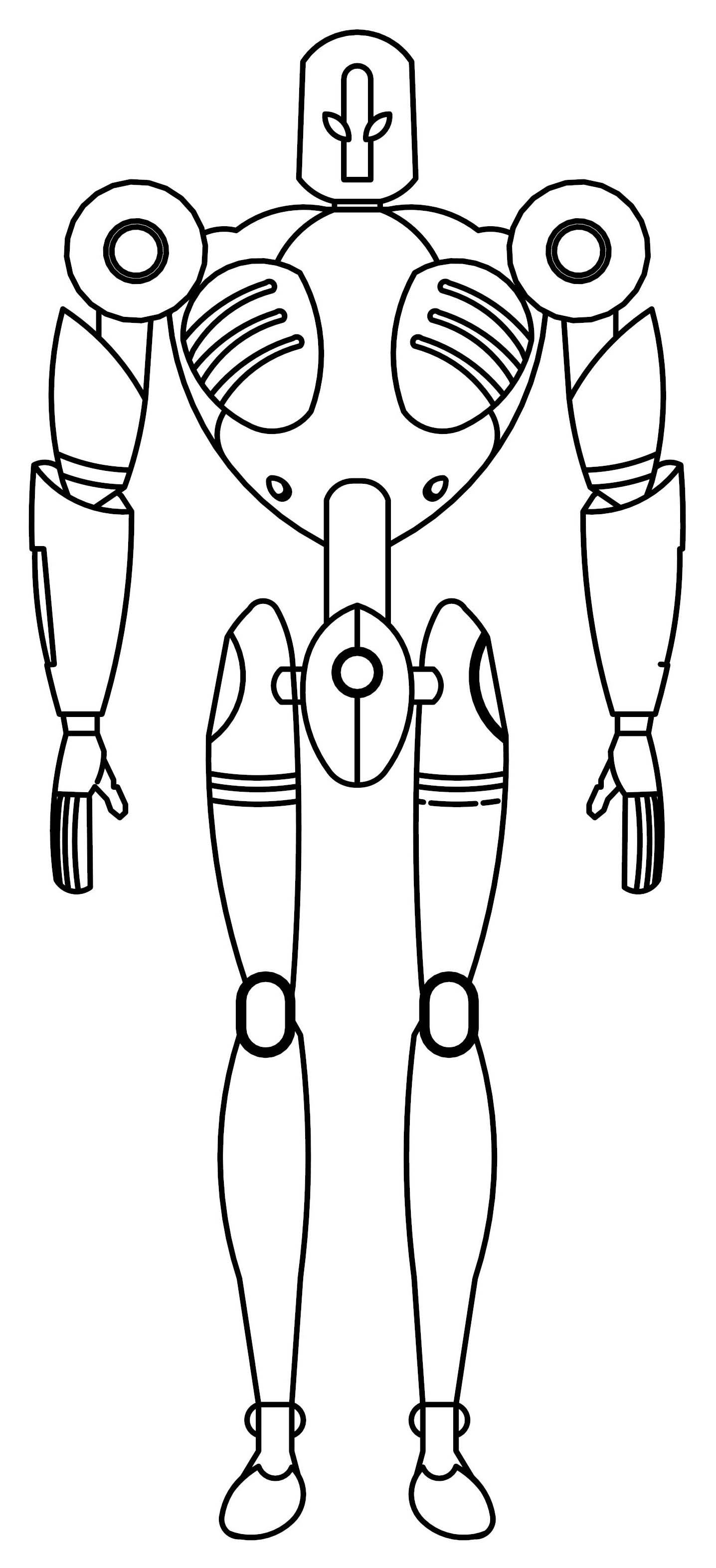 projec zeta robot coloring page