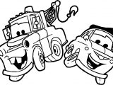 Pulling A Car Disney Cars Coloring Page