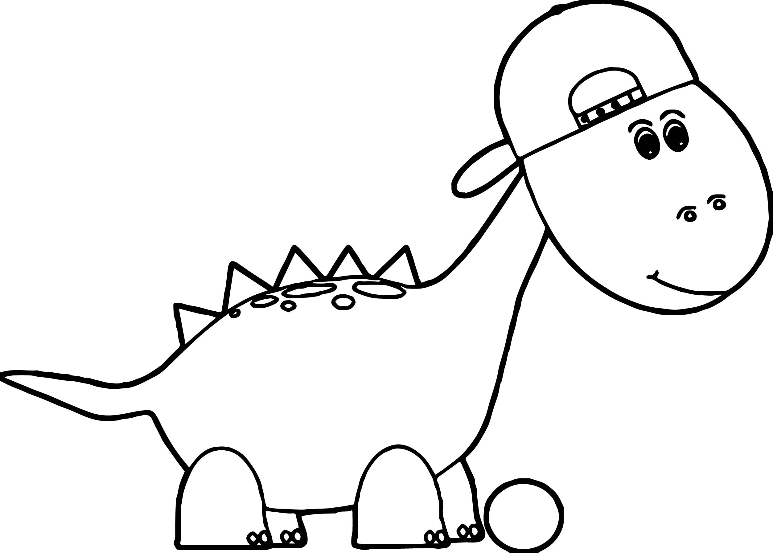 Rapper Dinosaur Coloring Page